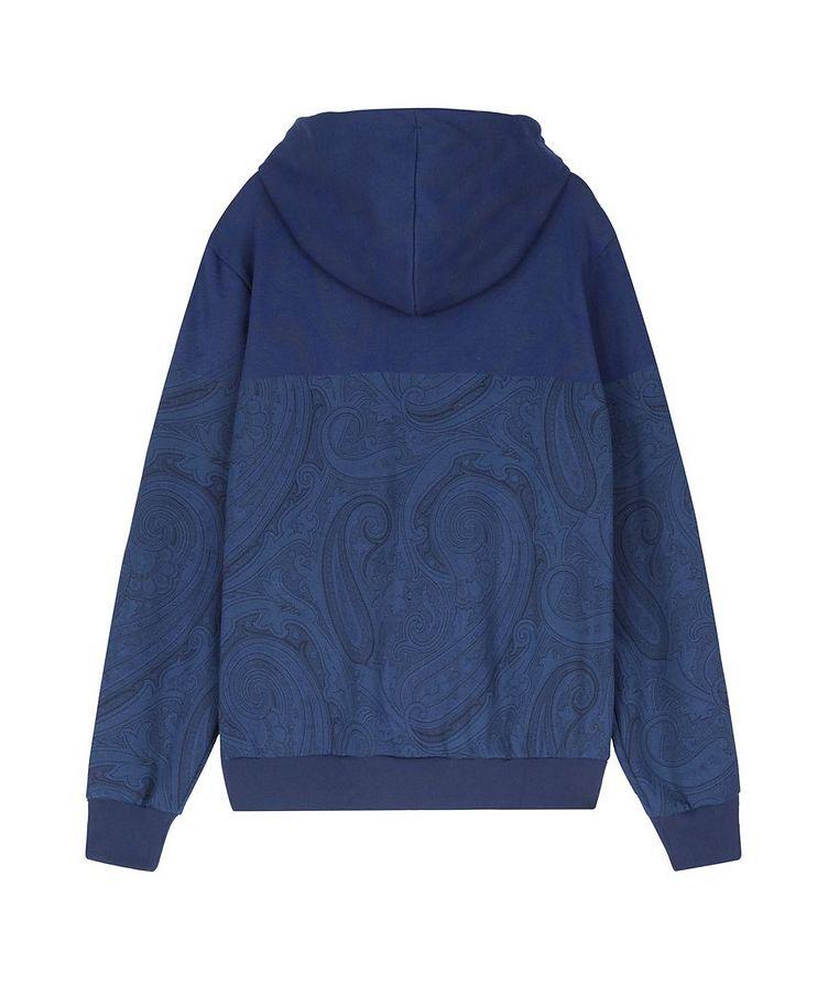 Paisley Print Zip-Up Cotton-Blend Hoodie  image 1