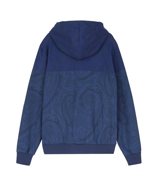 Paisley Print Zip-Up Cotton-Blend Hoodie  picture 2