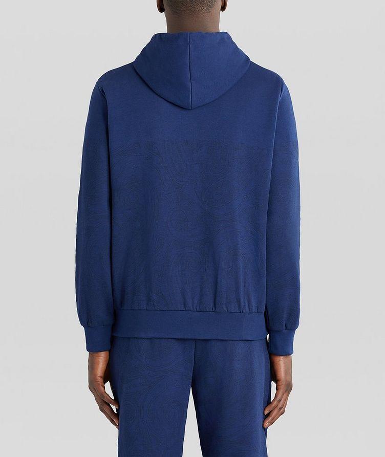 Paisley Print Zip-Up Cotton-Blend Hoodie  image 3