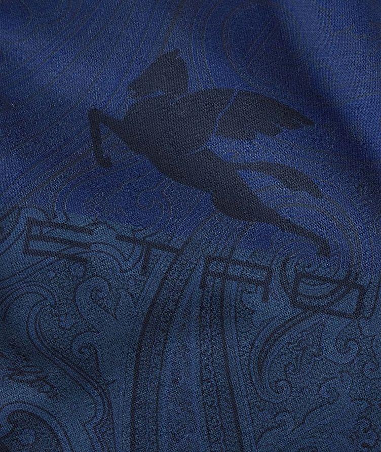 Paisley Print Zip-Up Cotton-Blend Hoodie  image 5