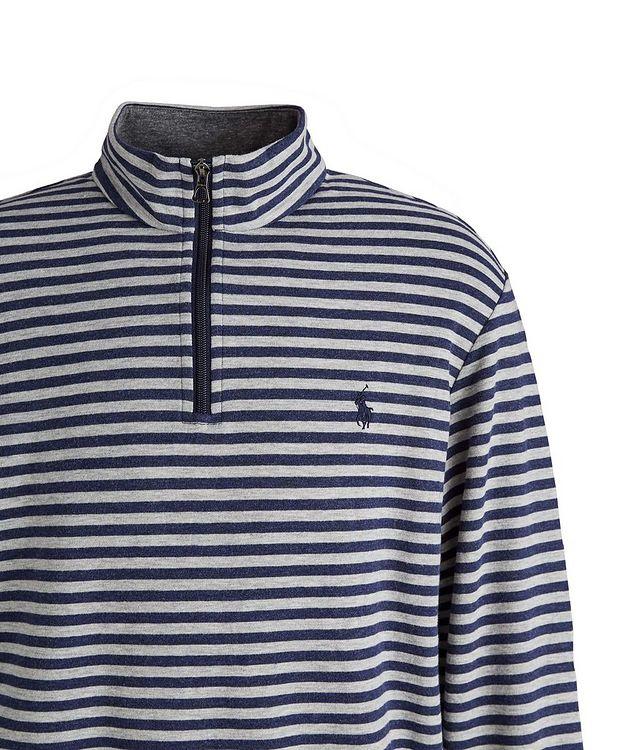 Striped Quarter-Zip Cotton-Blend Sweater picture 2