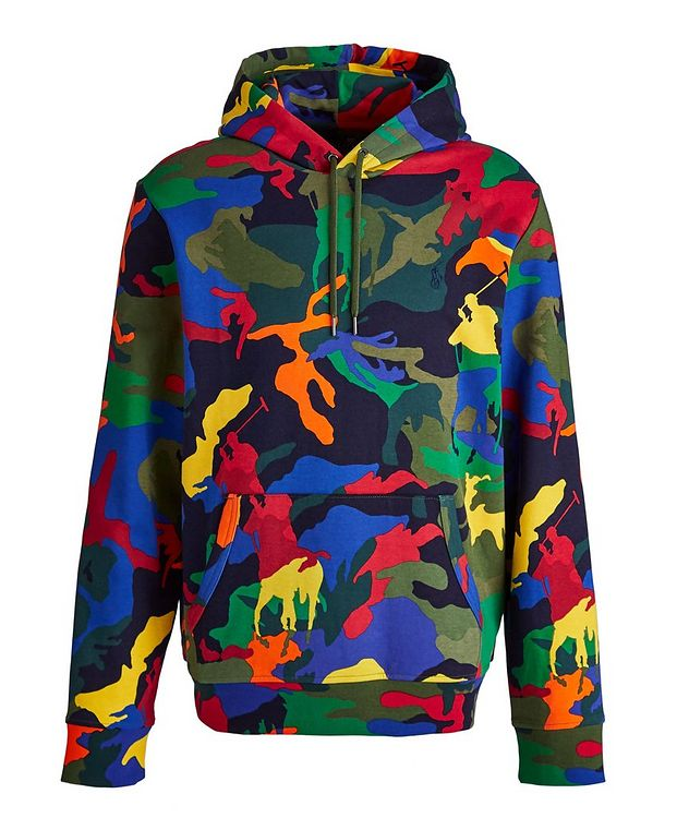 Camo Pony Cotton-Blend Hoodie picture 1