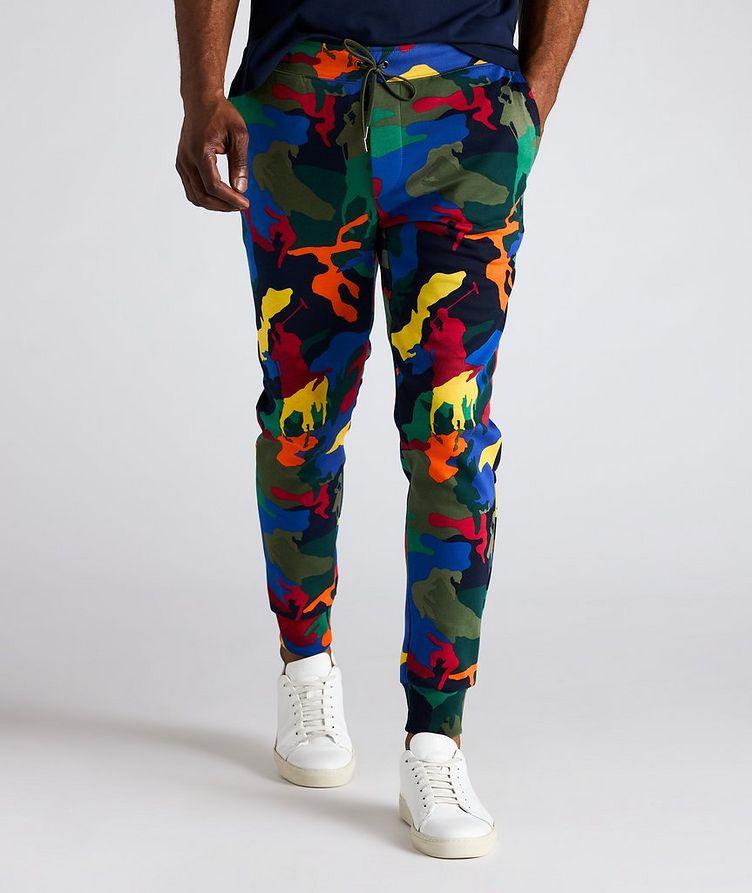 Pantalon sport en mélange de coton à motif camouflage image 1