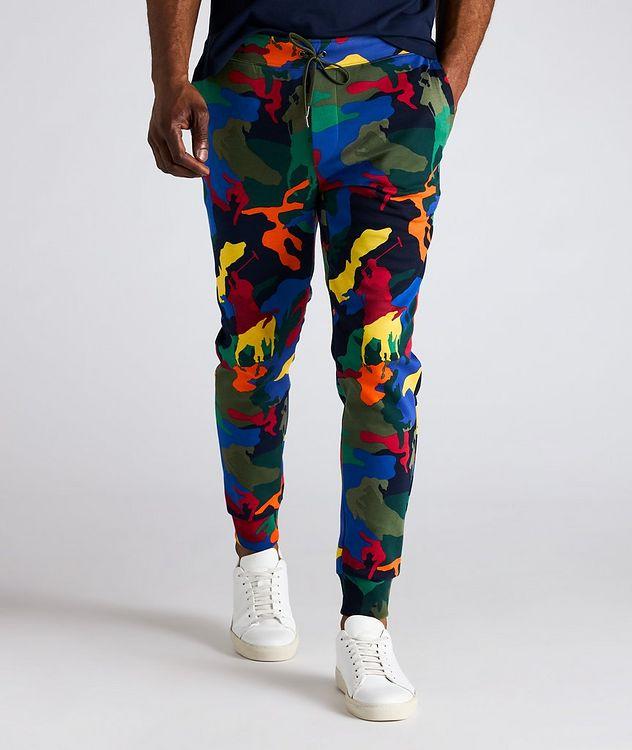 Pantalon sport en mélange de coton à motif camouflage picture 2