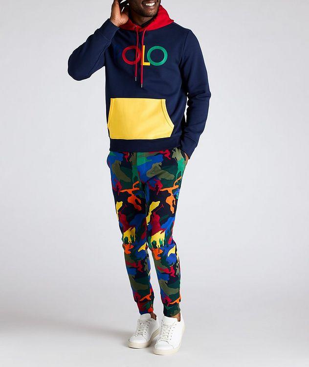 Pantalon sport en mélange de coton à motif camouflage picture 3