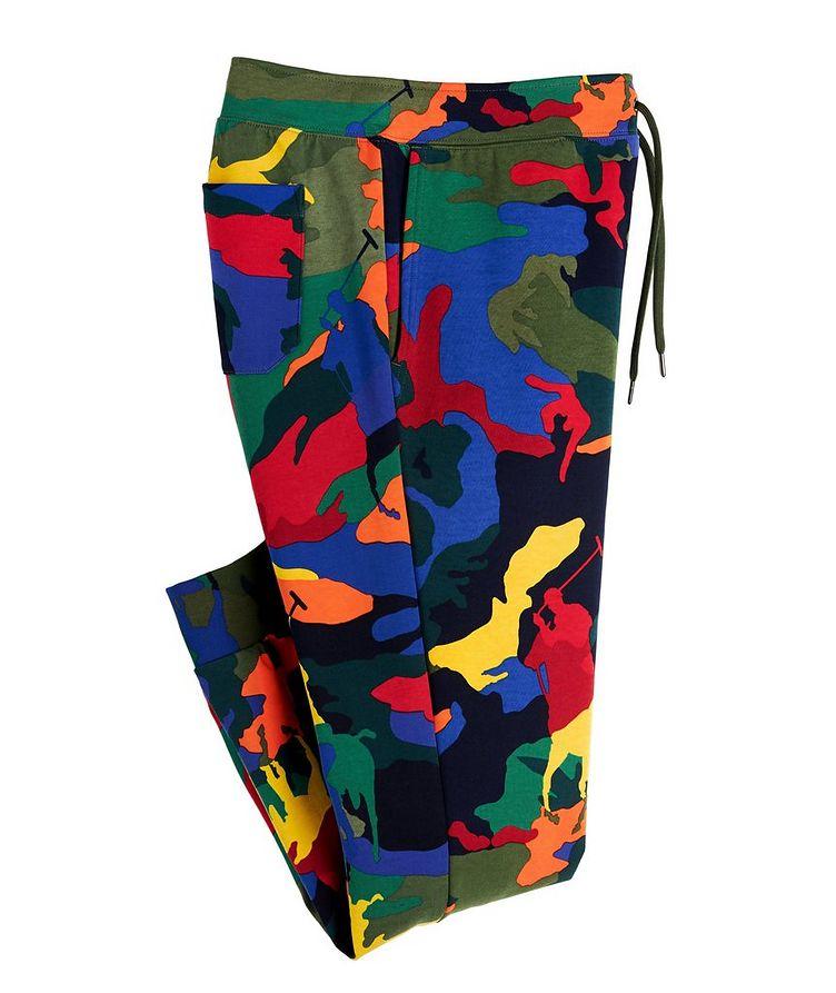 Pantalon sport en mélange de coton à motif camouflage image 0