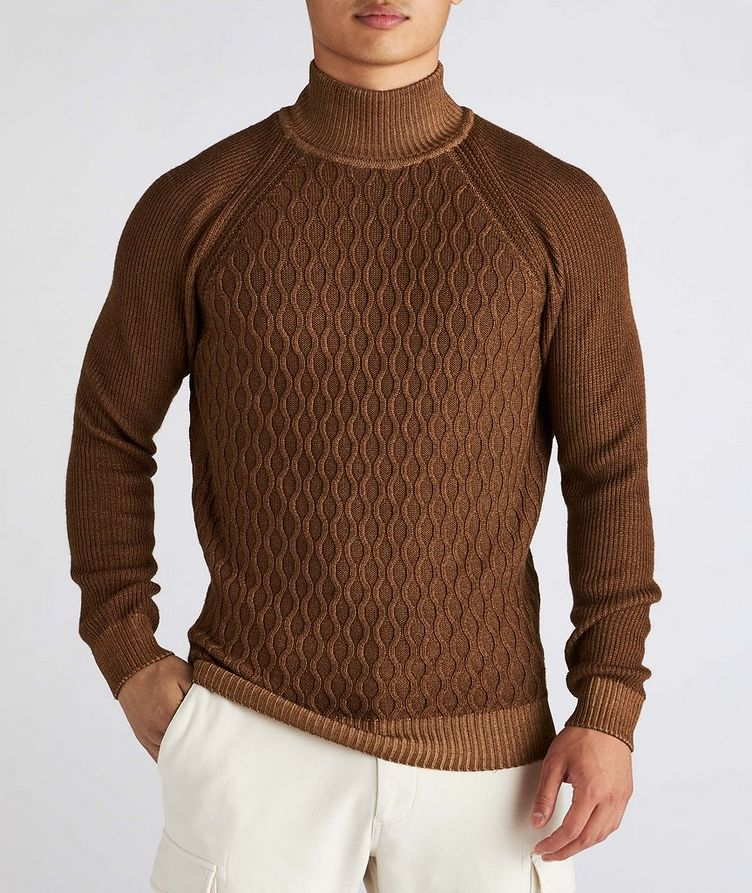 Cable-Knit Wool Turtleneck image 1