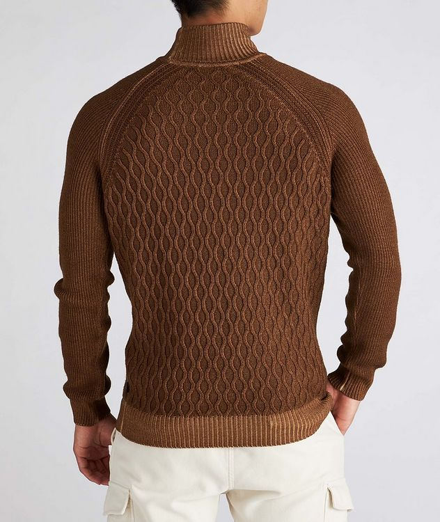 Cable-Knit Wool Turtleneck picture 3