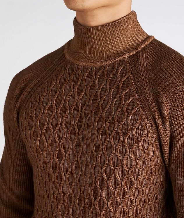 Cable-Knit Wool Turtleneck picture 4
