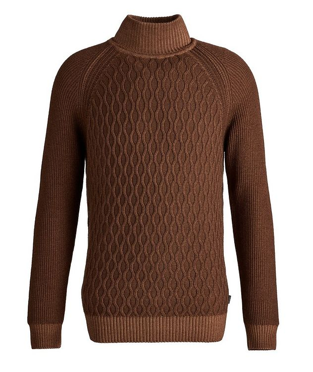 Cable-Knit Wool Turtleneck picture 1