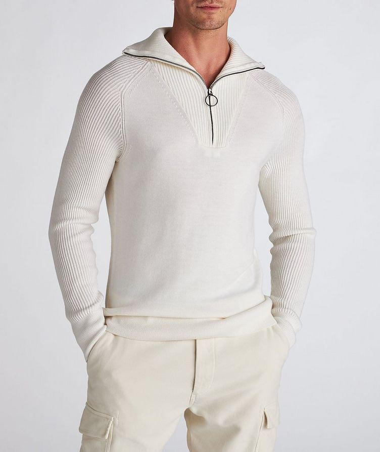 Half-Zip Wool Turtleneck image 1
