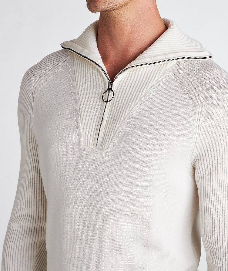 Half-Zip Wool Turtleneck image 3