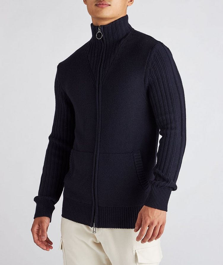 Wool Zip-Up Cardigan image 1