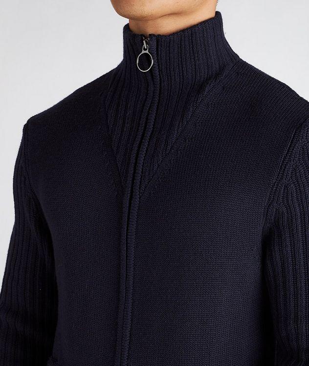 Wool Zip-Up Cardigan picture 4