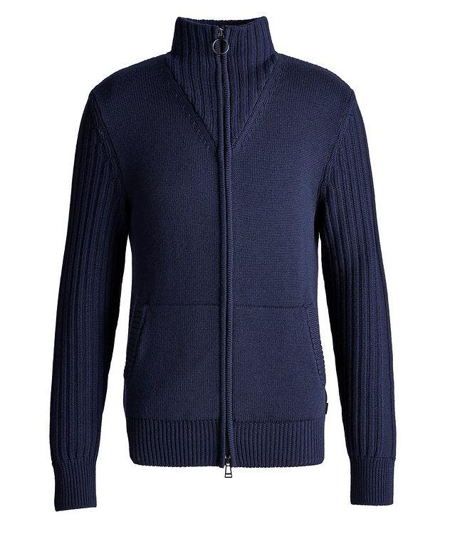 Wool Zip-Up Cardigan picture 1