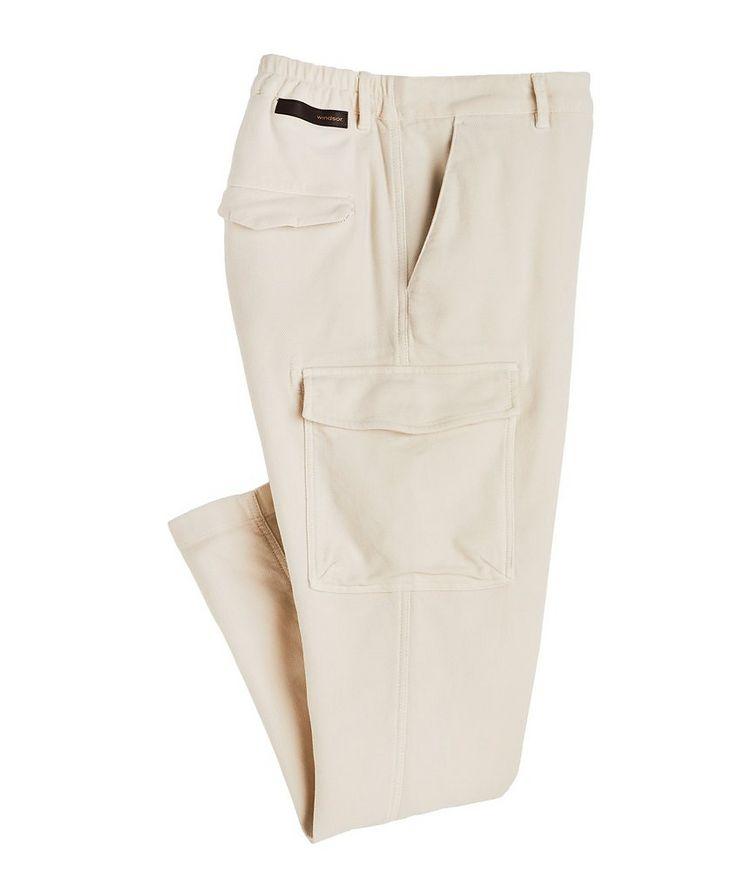 Stretch Cotton Cargo Pants image 0