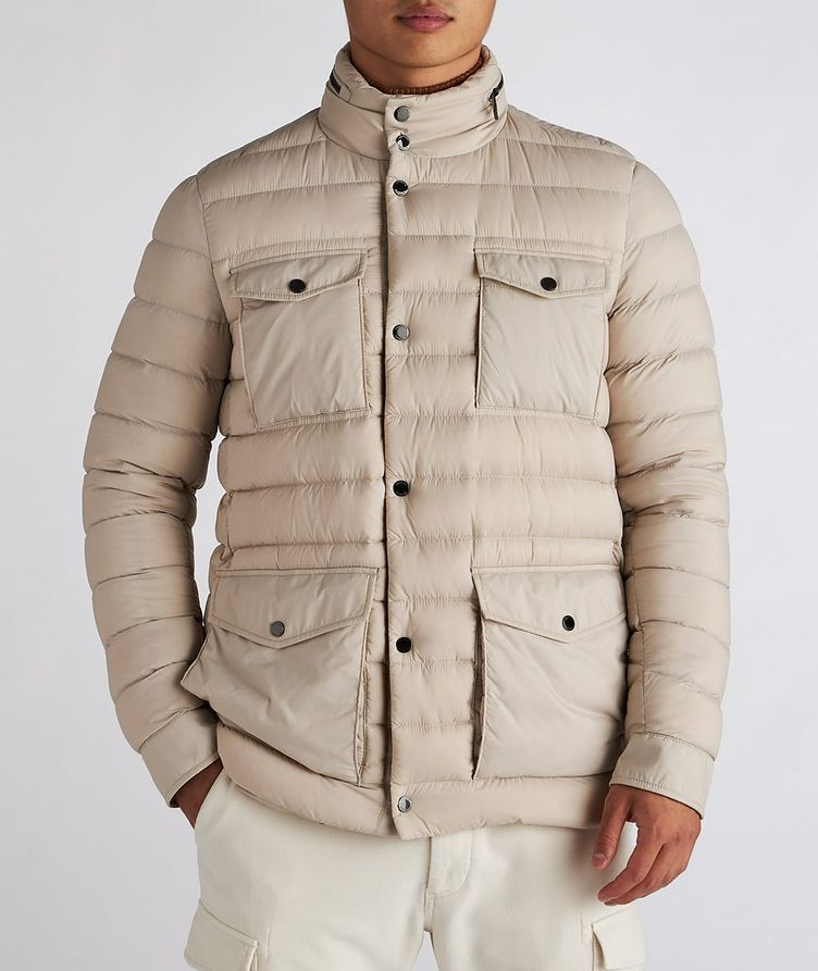 Hooded Quilted Down Puffer Jacket image 1