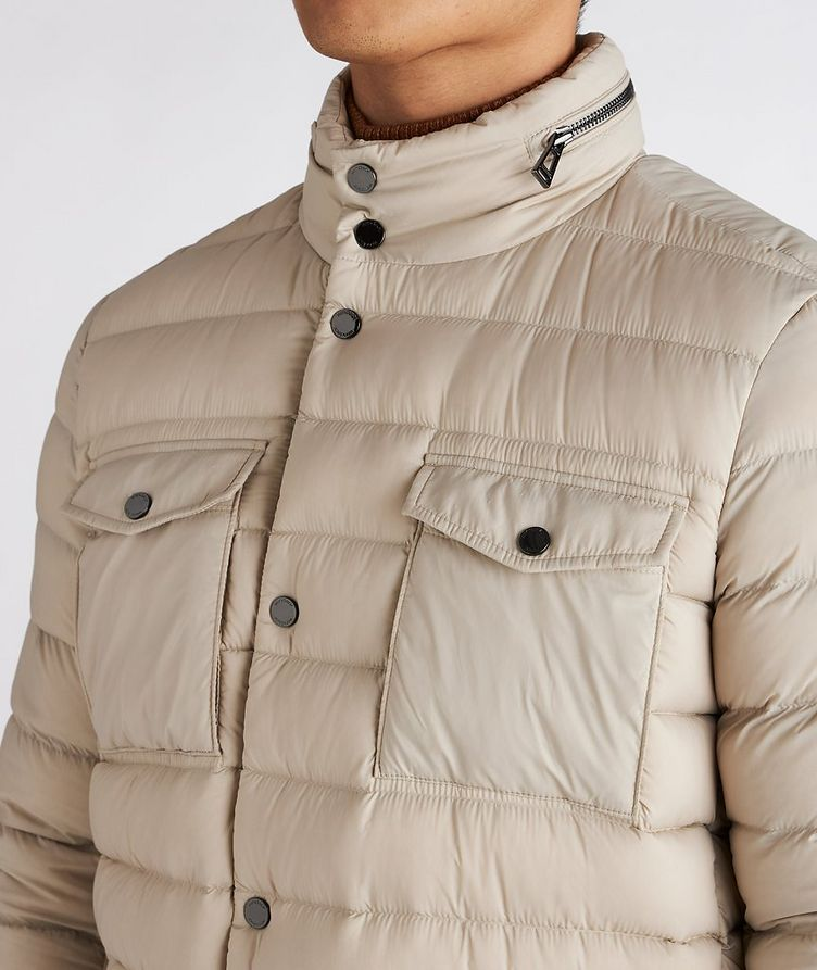 Hooded Quilted Down Puffer Jacket image 3