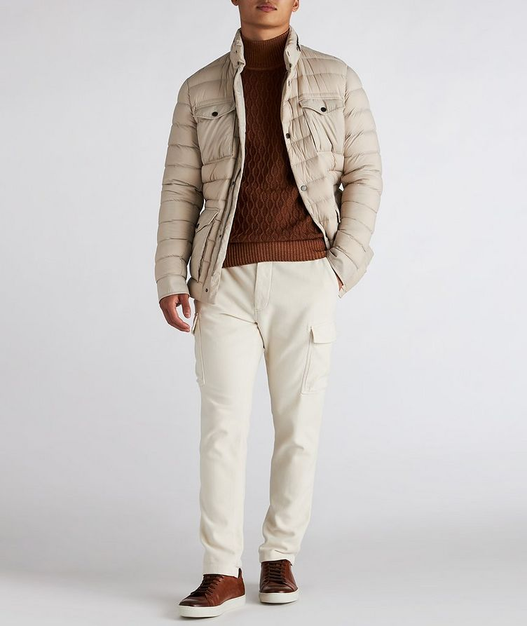 Hooded Quilted Down Puffer Jacket image 4