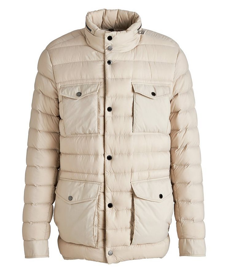 Hooded Quilted Down Puffer Jacket image 0