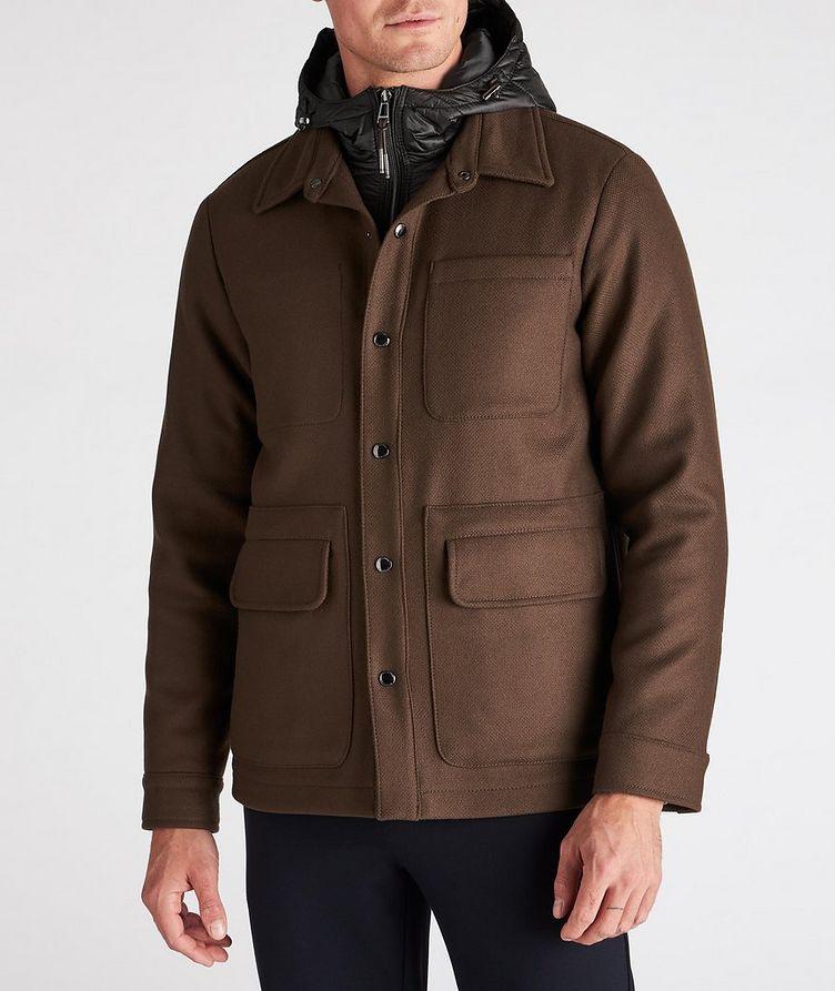 Hooded Wool-Blend Chore Jacket image 1