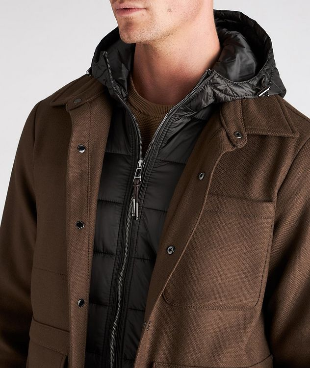 Hooded Wool-Blend Chore Jacket picture 4