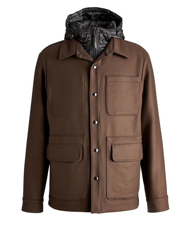 Hooded Wool-Blend Chore Jacket picture 1