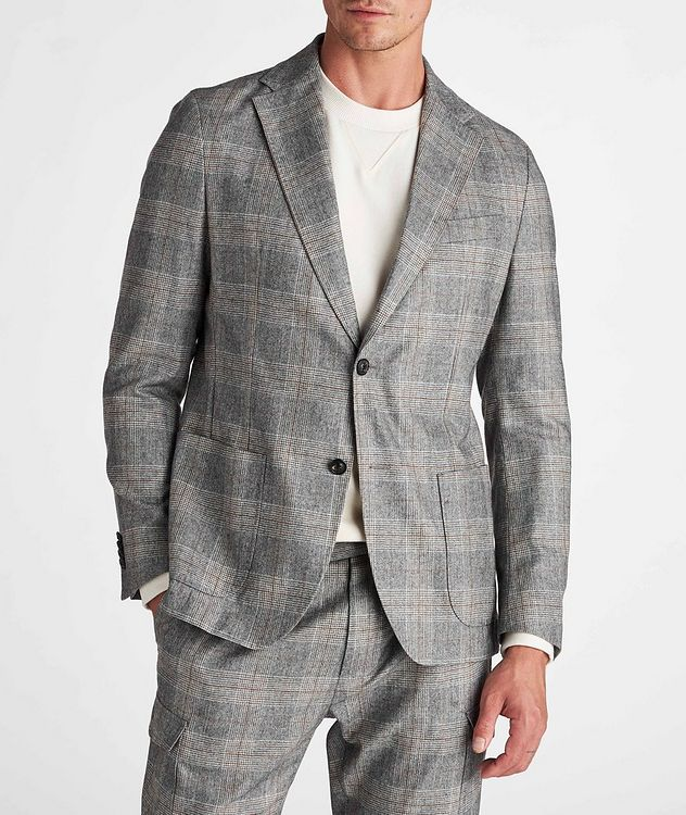 Camel Checked Wool-Blend Sports Jacket picture 2
