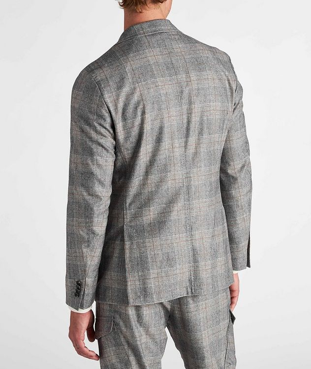 Camel Checked Wool-Blend Sports Jacket picture 3