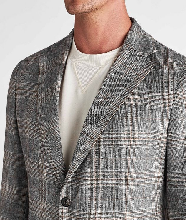 Camel Checked Wool-Blend Sports Jacket picture 4