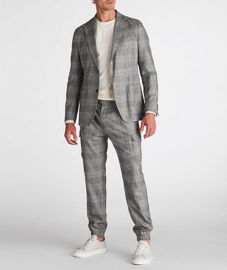 Camel Checked Wool-Blend Sports Jacket image 4
