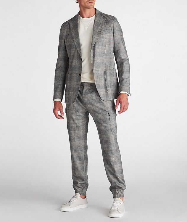 Camel Checked Wool-Blend Sports Jacket picture 5