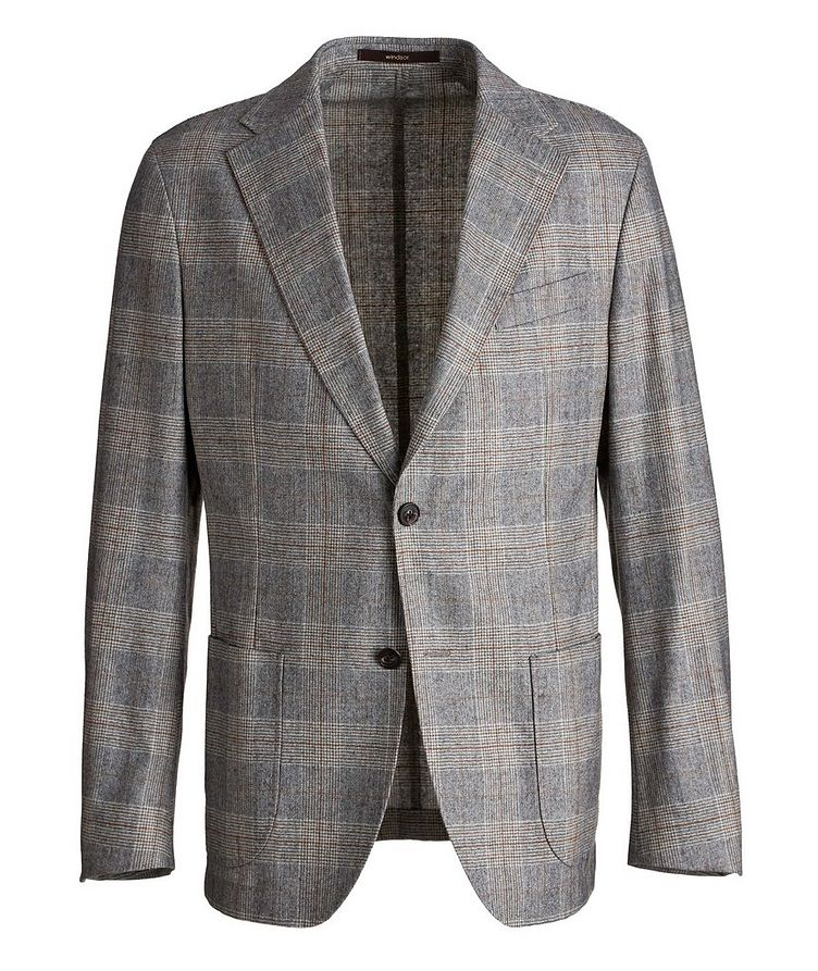 Camel Checked Wool-Blend Sports Jacket image 0