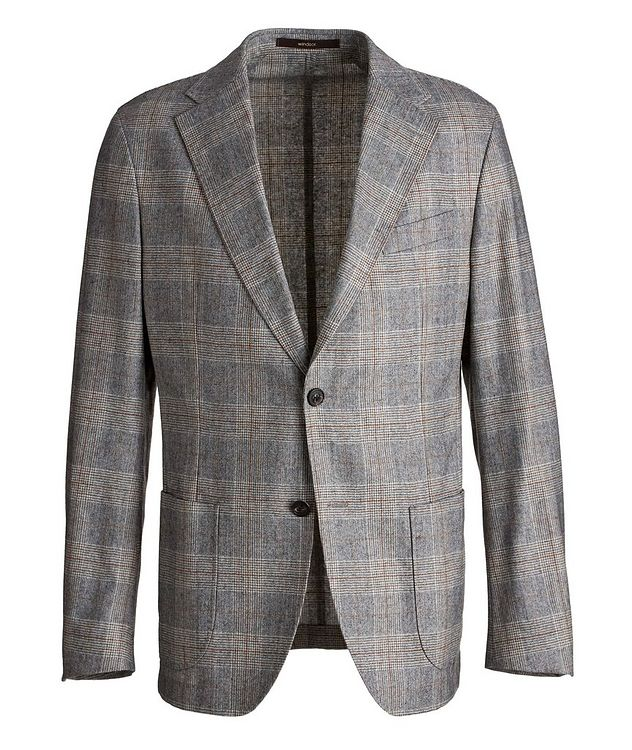 Camel Checked Wool-Blend Sports Jacket picture 1