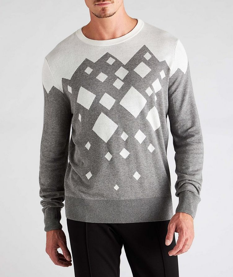 Diamond Cotton-Blend Sweater image 1