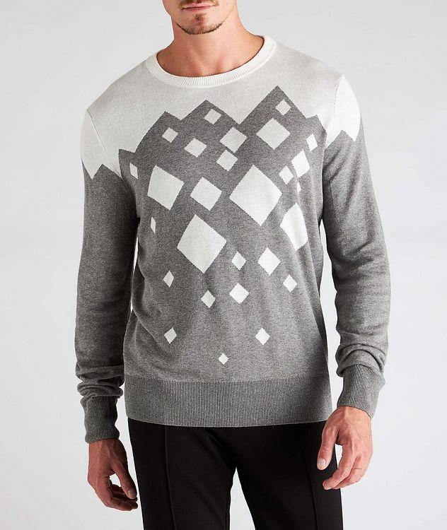 Diamond Cotton-Blend Sweater picture 2