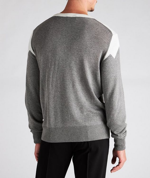 Diamond Cotton-Blend Sweater picture 3