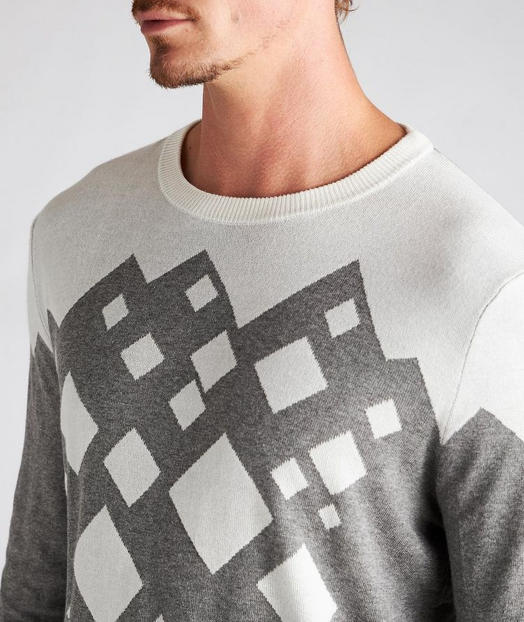 Diamond Cotton-Blend Sweater image 3