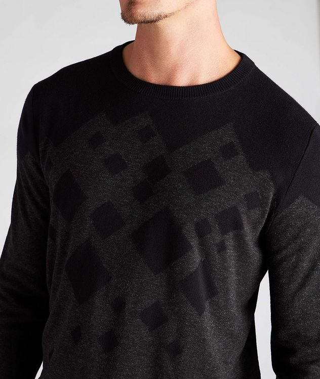 Diamond Cotton-Blend Sweater picture 4