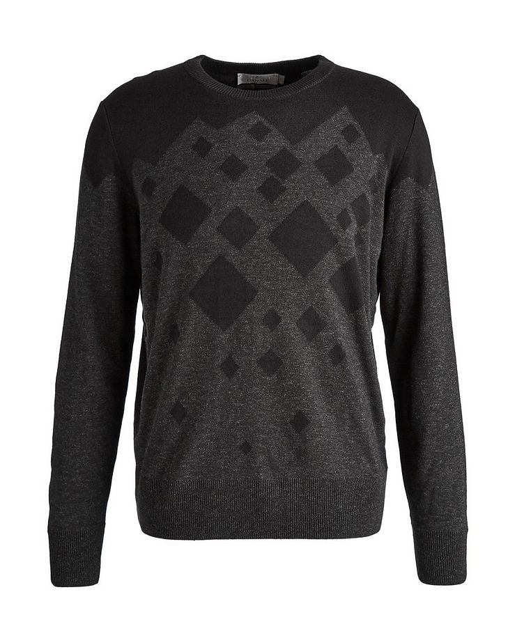 Diamond Cotton-Blend Sweater image 0