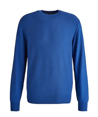 Canali Textured Cotton-Blend Sweater