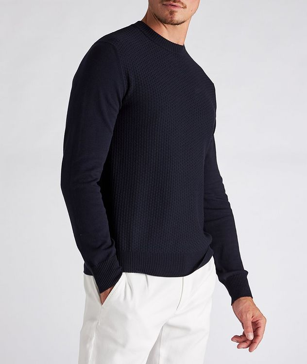 Textured Cotton-Blend Sweater picture 2