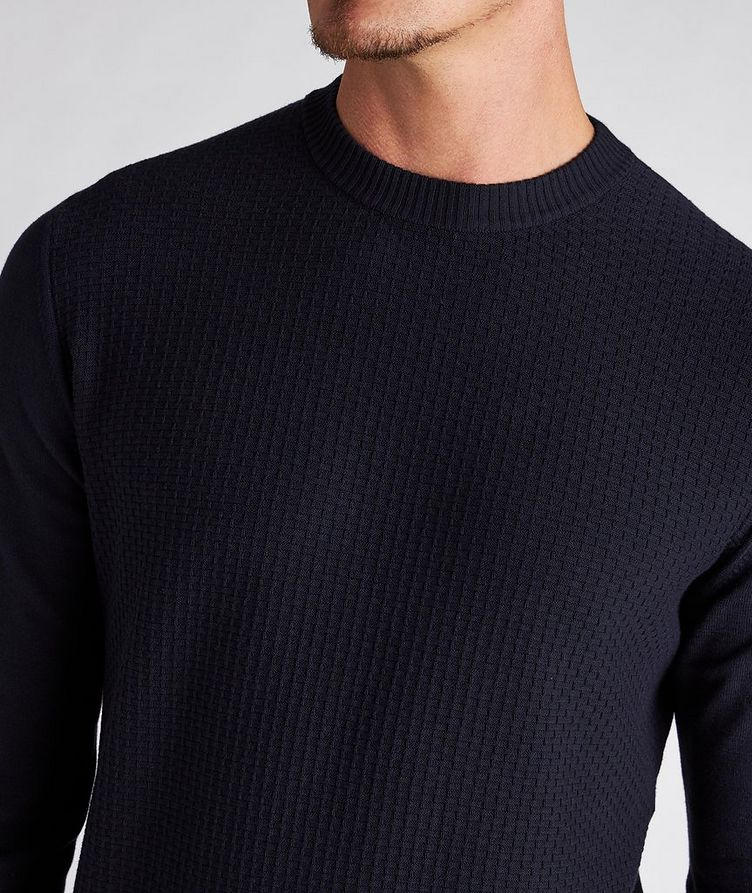 Textured Cotton-Blend Sweater image 3