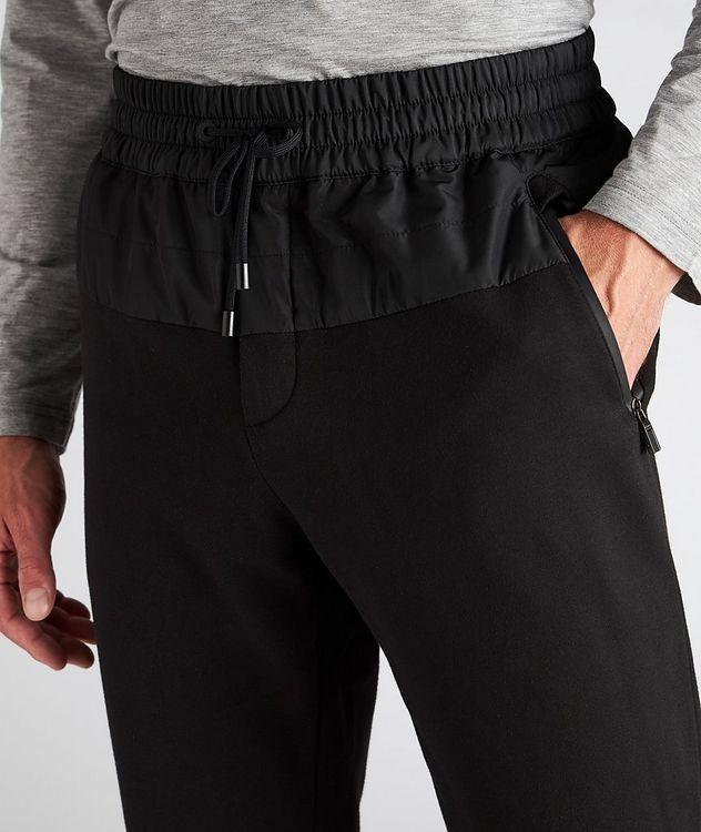 Drawstring Cotton-Blend Track Pants picture 4