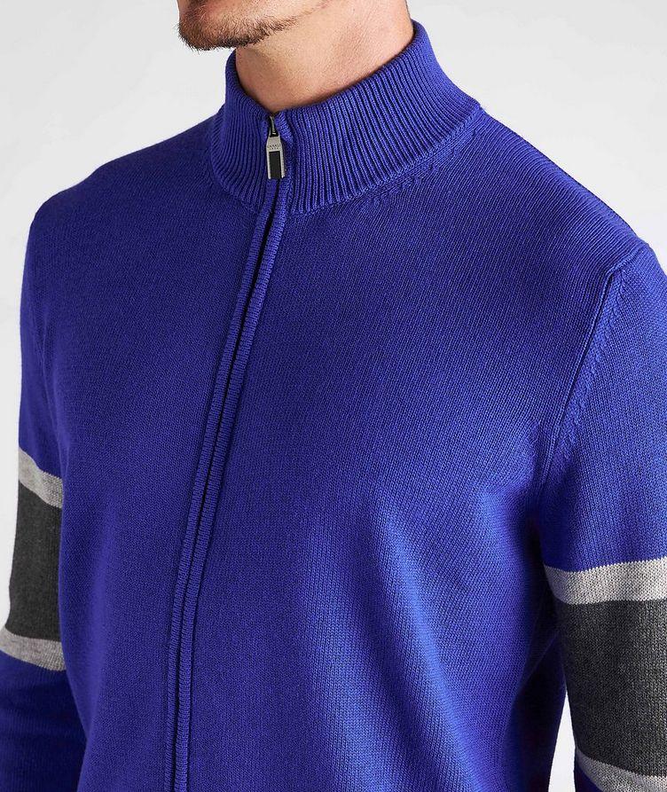Zip-Up Cotton-Blend Cardigan image 3