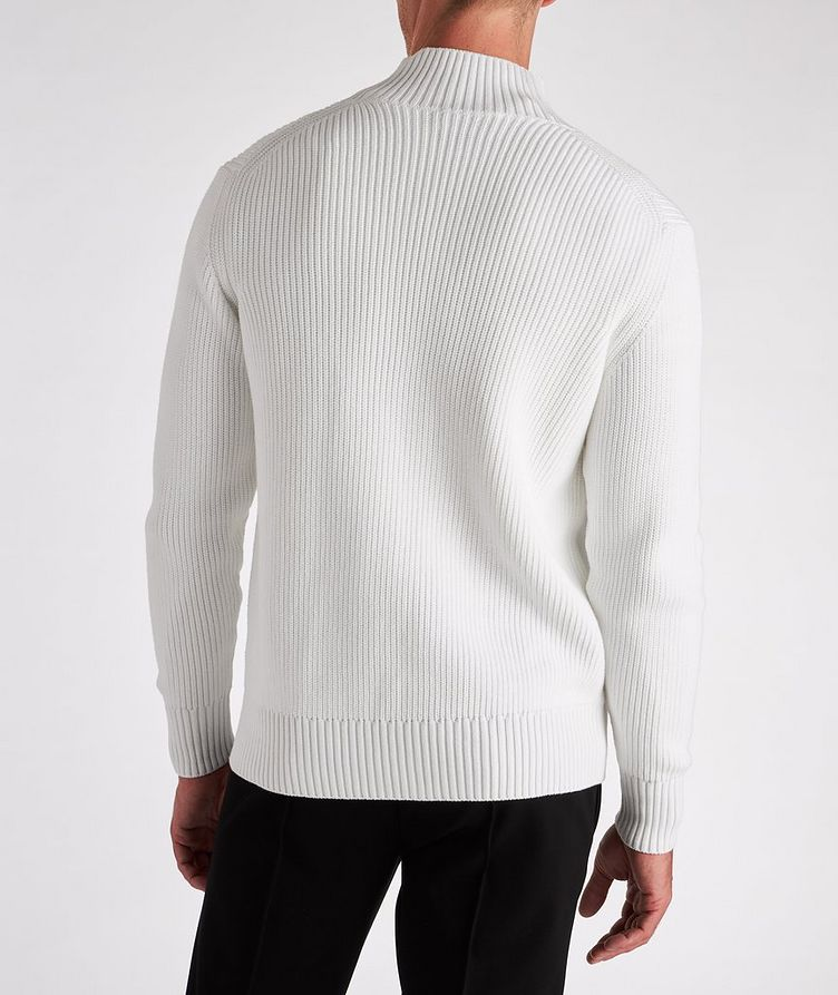 Zip-Up Cotton-Blend Sweater image 2