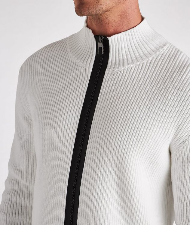 Zip-Up Cotton-Blend Sweater picture 4