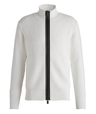 Canali Zip-Up Cotton-Blend Sweater
