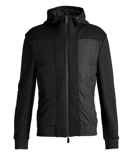 Canali Hooded Cotton-Blend Track Jacket
