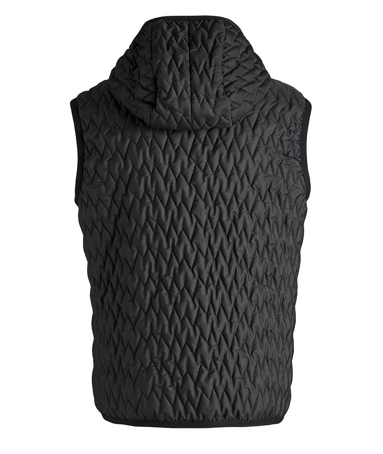 Water-Repellent Quilted Hooded Vest image 1